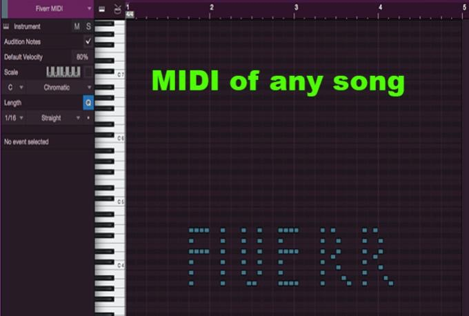 create a MIDI of any song