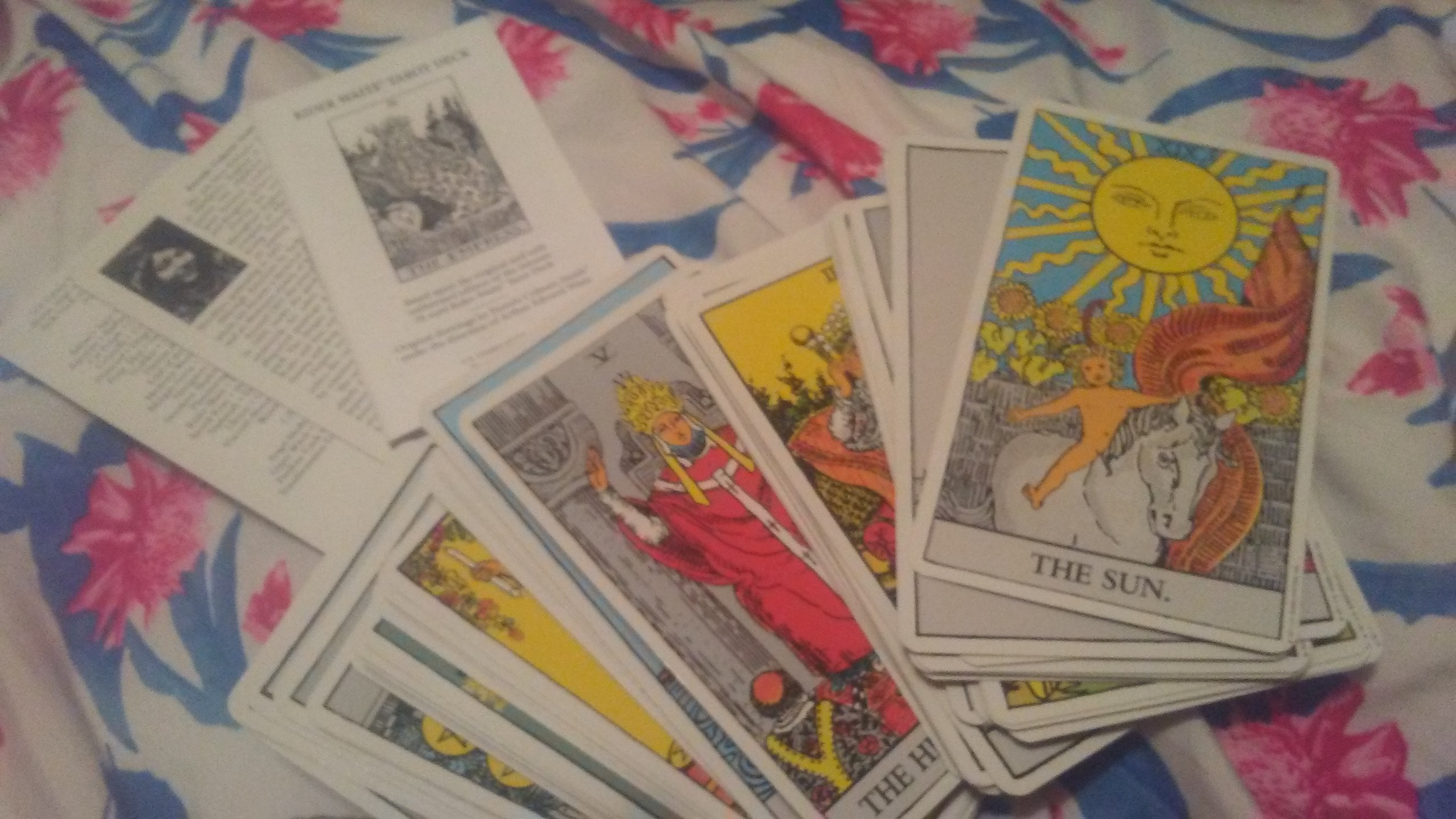 do a past present and future spread with your choice out of two tarot decks