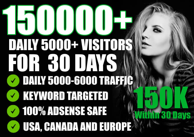Give you unlimited traffic for you website for one month