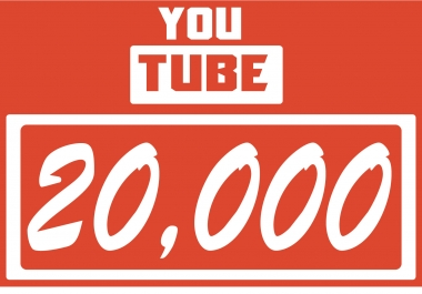 give 20000 youtube views real permanent