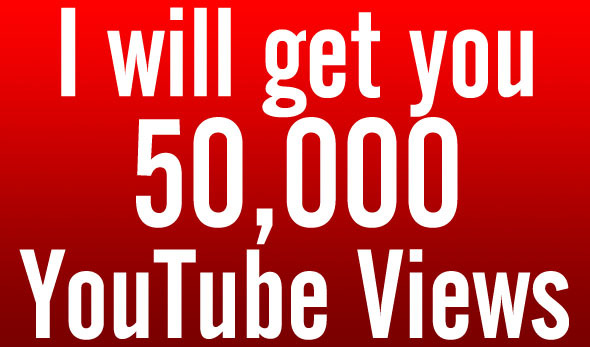give 50000 Youtube views real life time guarantee