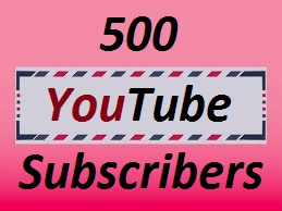 500+ YouTube-Subscriber in your Channel, Non Drop, Real & Active User