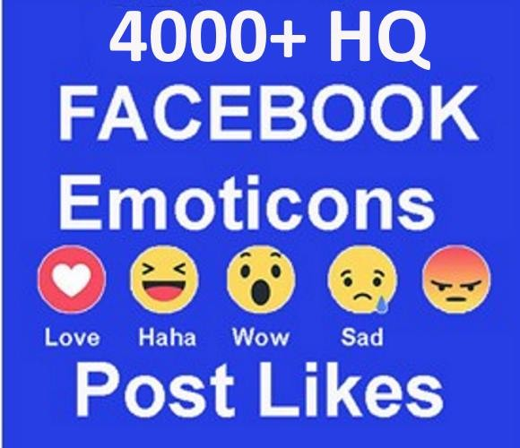 give 4,000  Emoticon Facebook Post likes Non Drop in 48 Hours