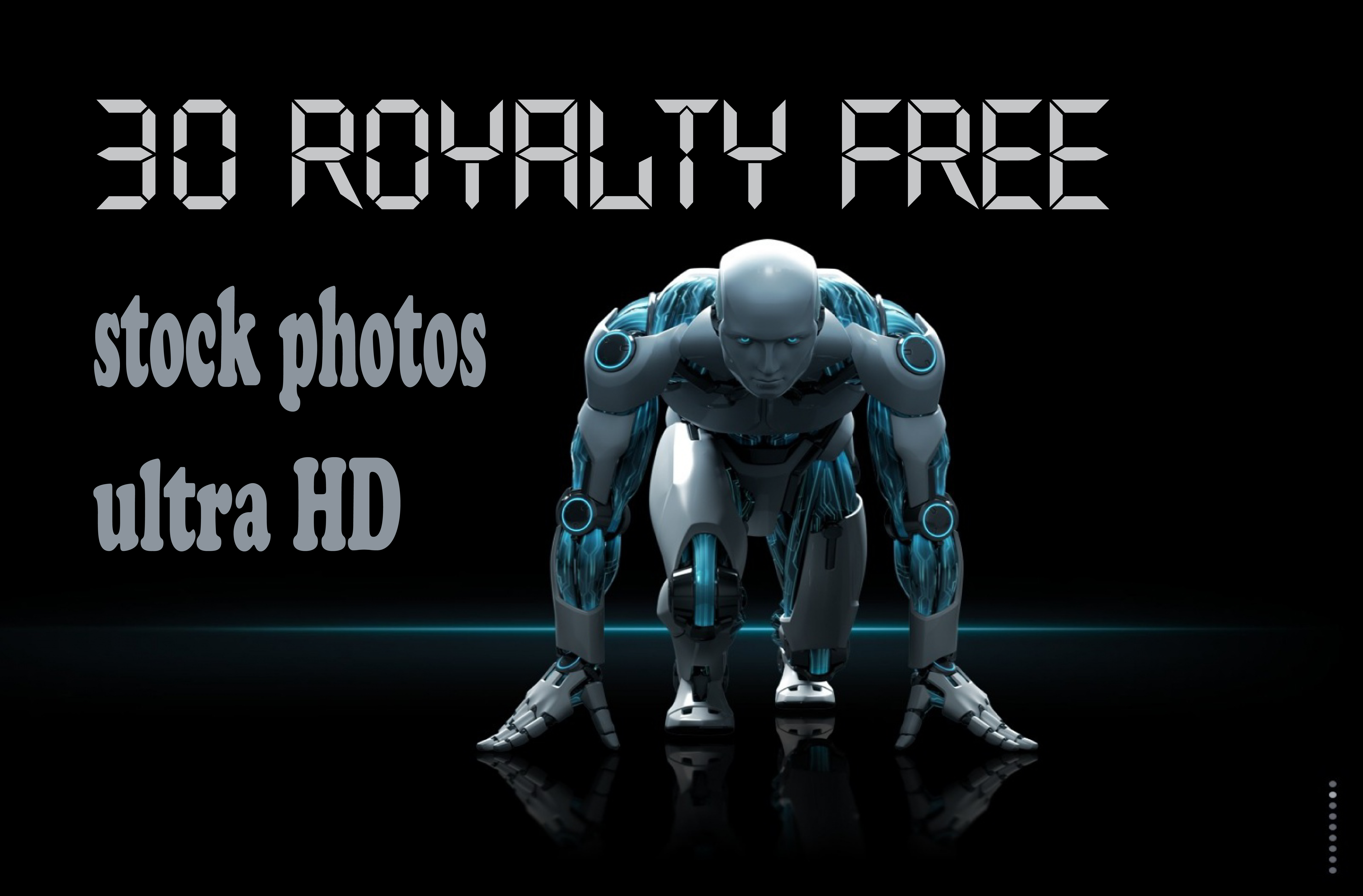 give 30 royalty free ultra HD stock images on any subject