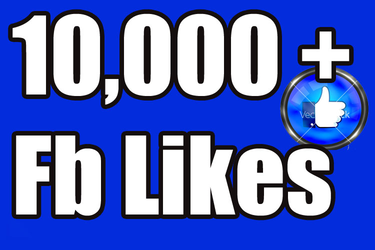 Gives you 10,000+Instantly started PERMANENT Active Facebook likes