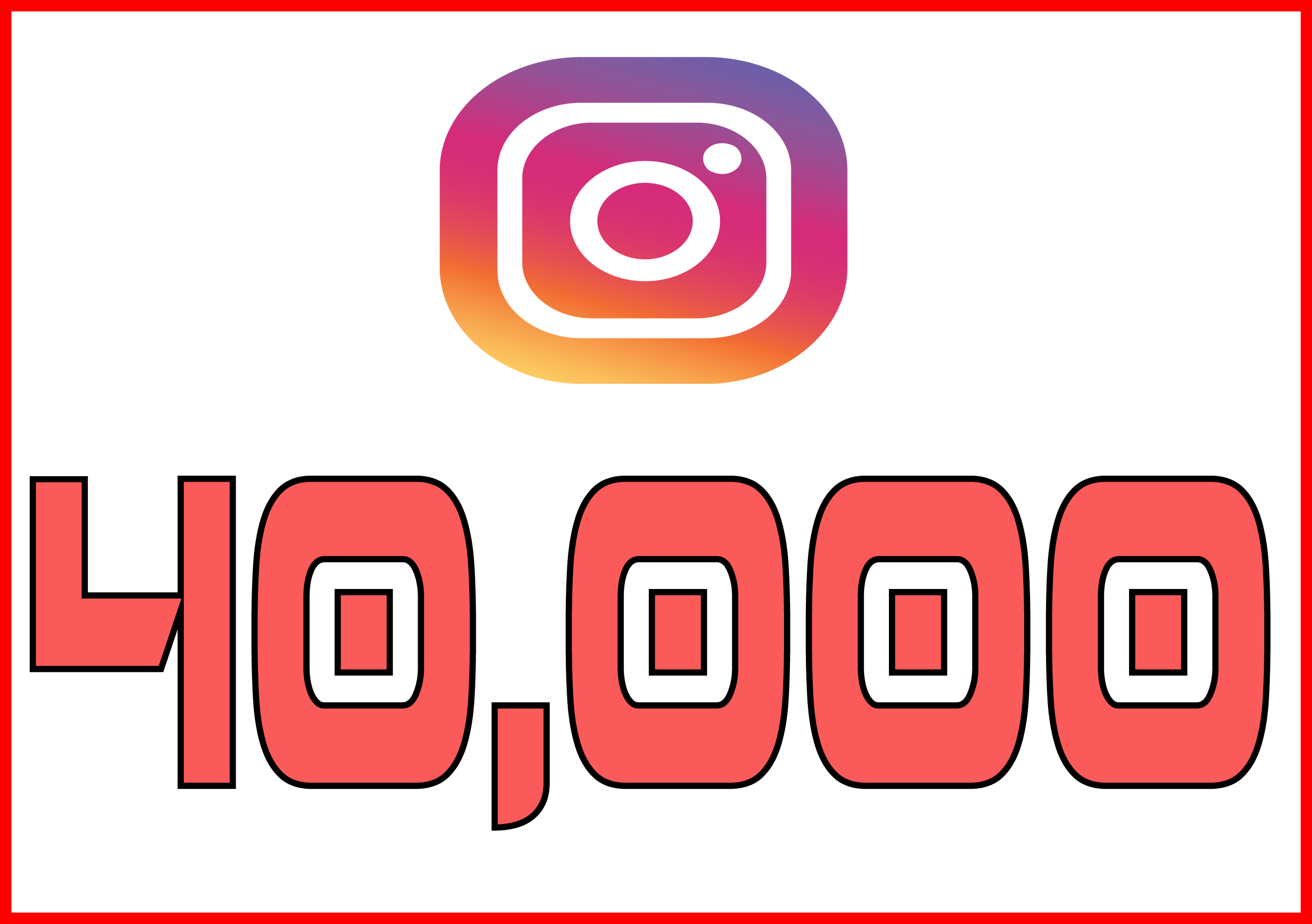 Instagram 40,000 Instant Fast Non Drop Followers