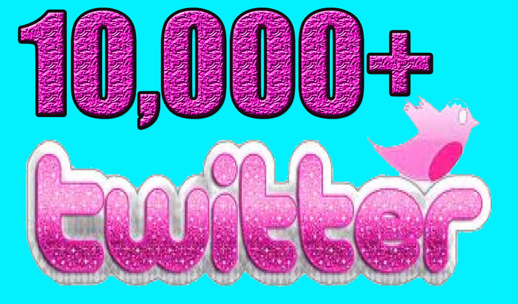 10,000+ Real&Active Twitter Followers