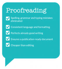 do proofreading and editing