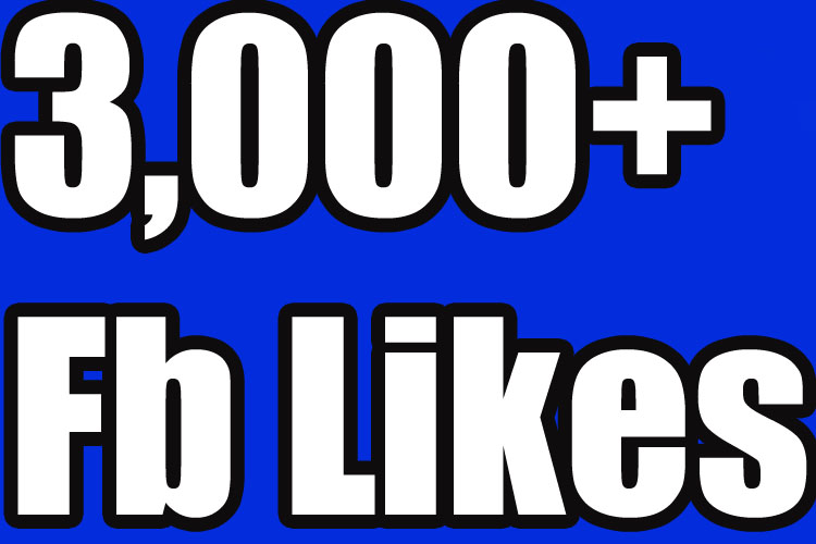 Gives you 3,000+Instantly started PERMANENT Active Facebook likes
