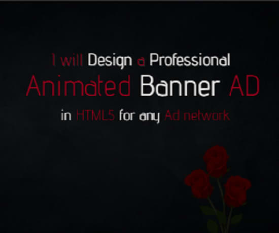Design Animated Banner In HTML5 For Any Ad Network Please See Example