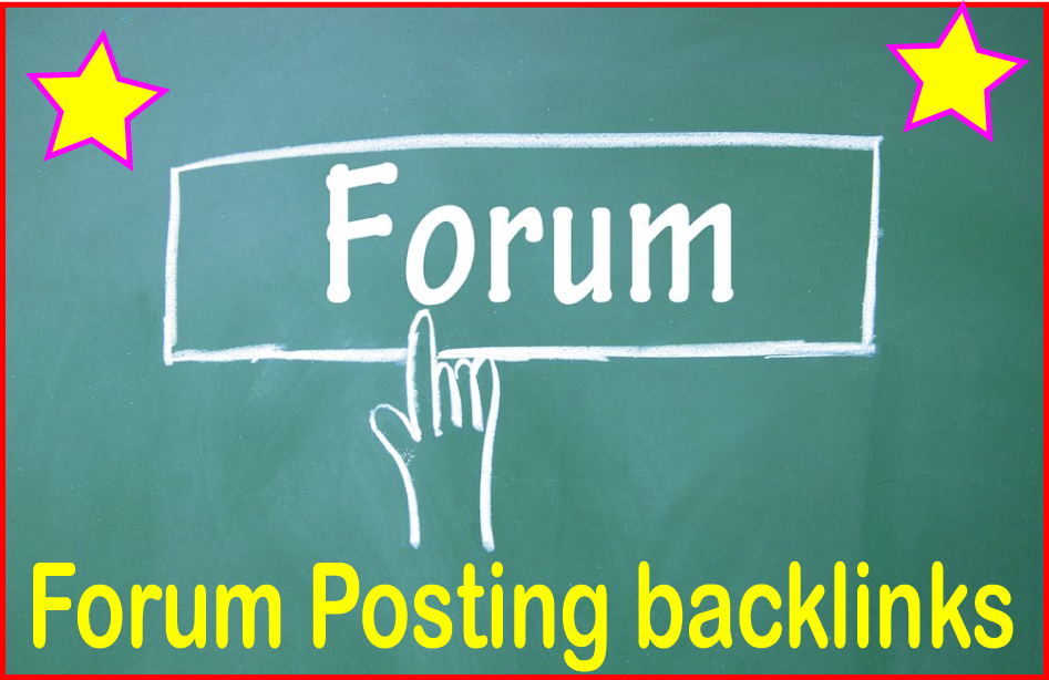 Do 1100 Forum posting backlinks High PR Metrics Backlinks