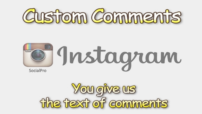 Provide you 220 Instagram Custom Comments Instant! (HQ, Emoji Accepted, Split-able)