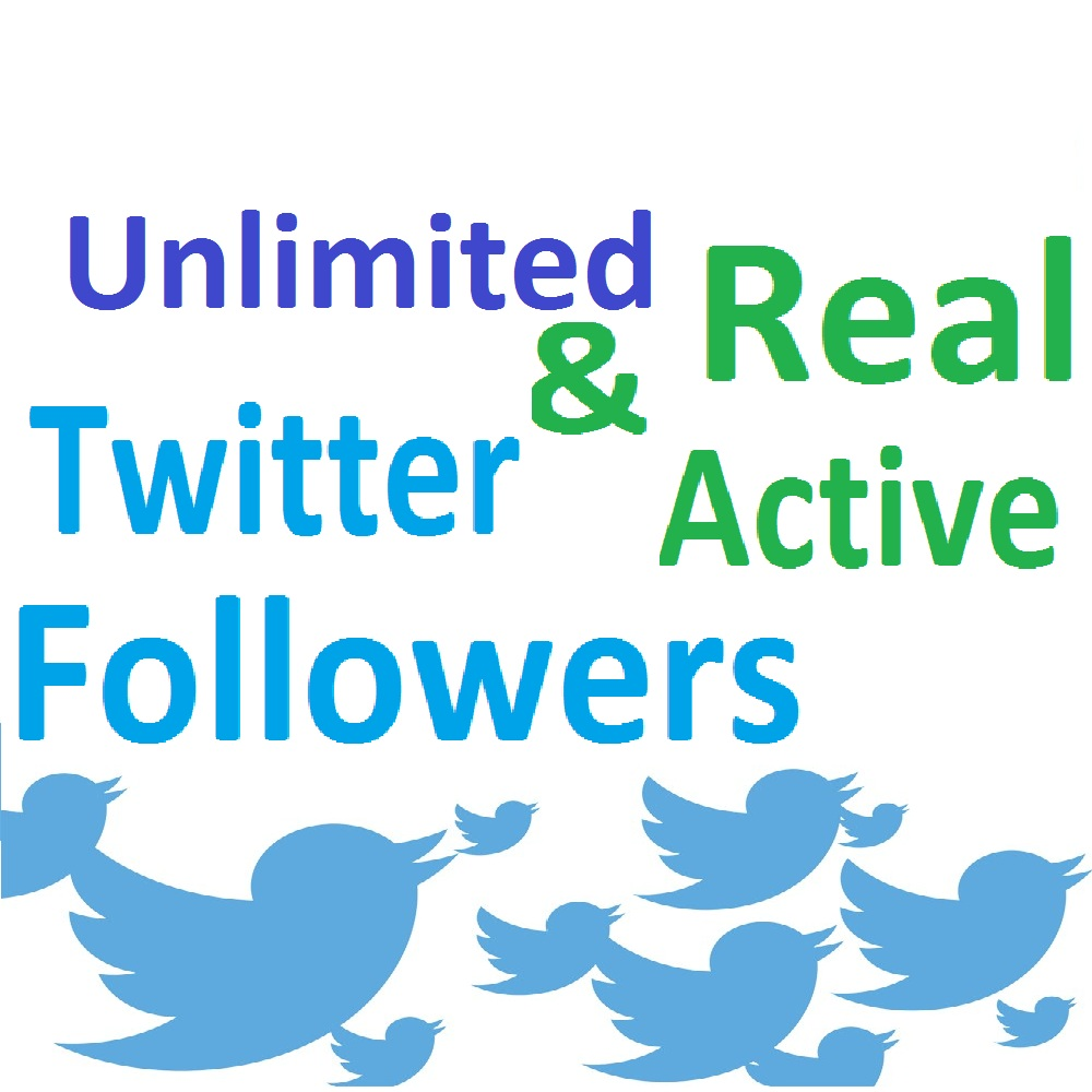 add Real & Active Twitter followers (Unlimited)