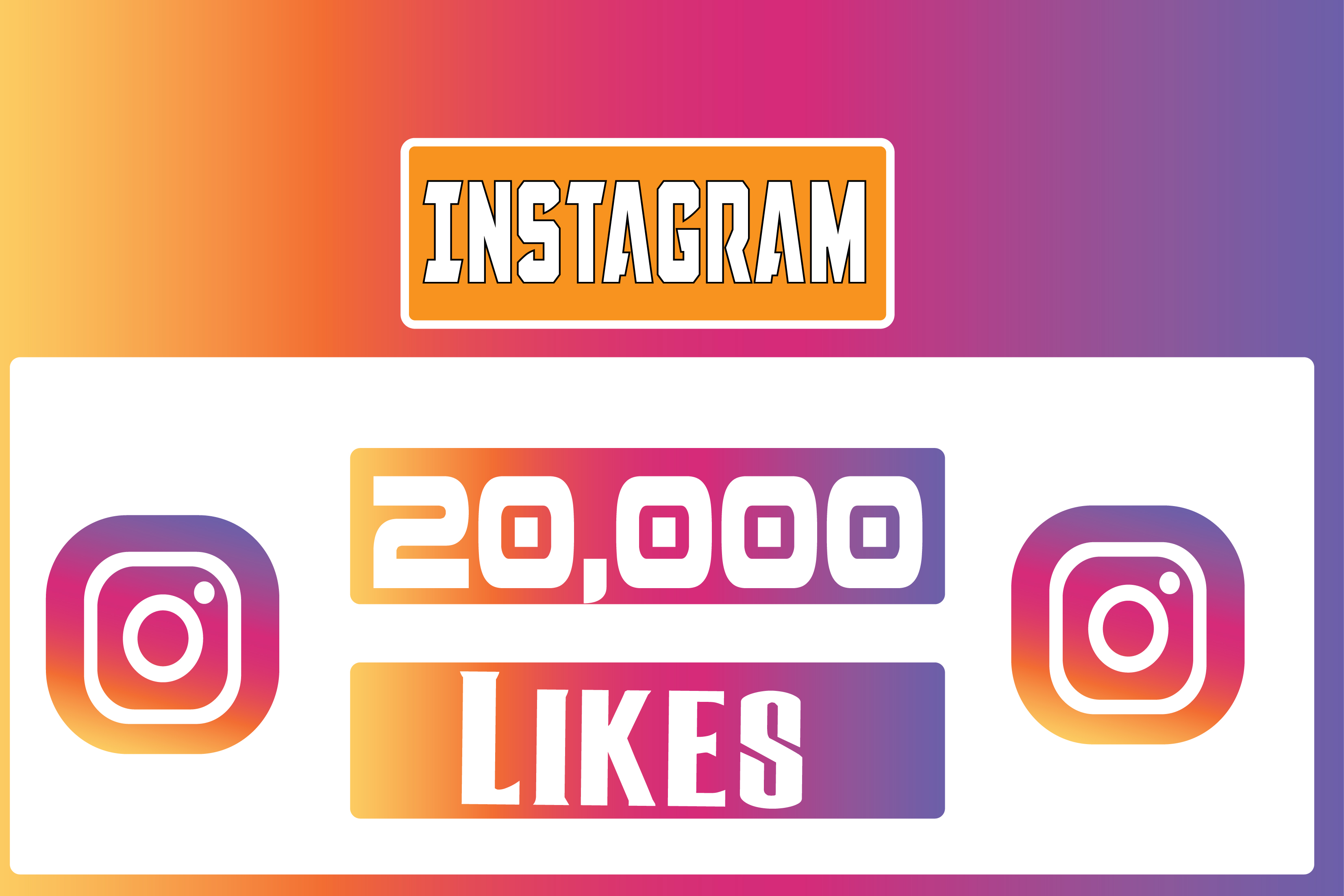 20,000 Instagram Picture Like, Non Droop (Split-able