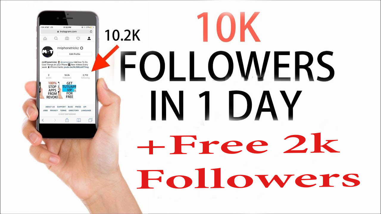 Give You 10000+2000(free) Followers On instagram