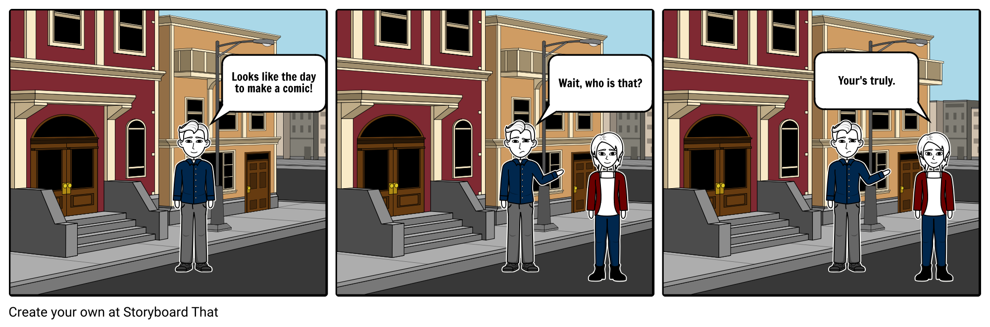 create an up to 24-panel comic strip for personal use