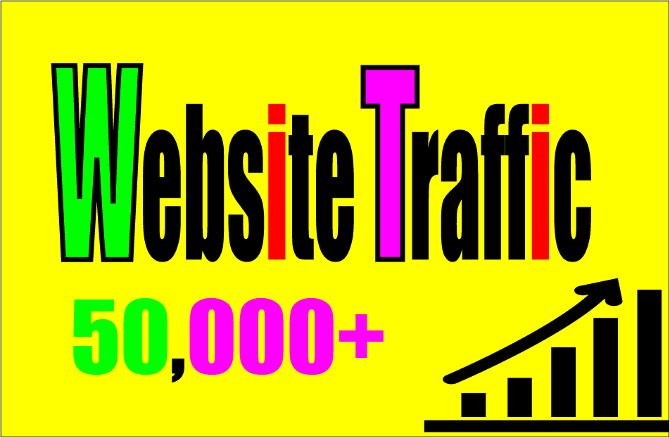 Give you 50,000 Guaranteed UK Any Country Traffic to your site with proofs