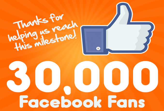 deliver 30,000 Facebook Page likes