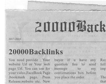 Create 20000 Automatic Backlinks