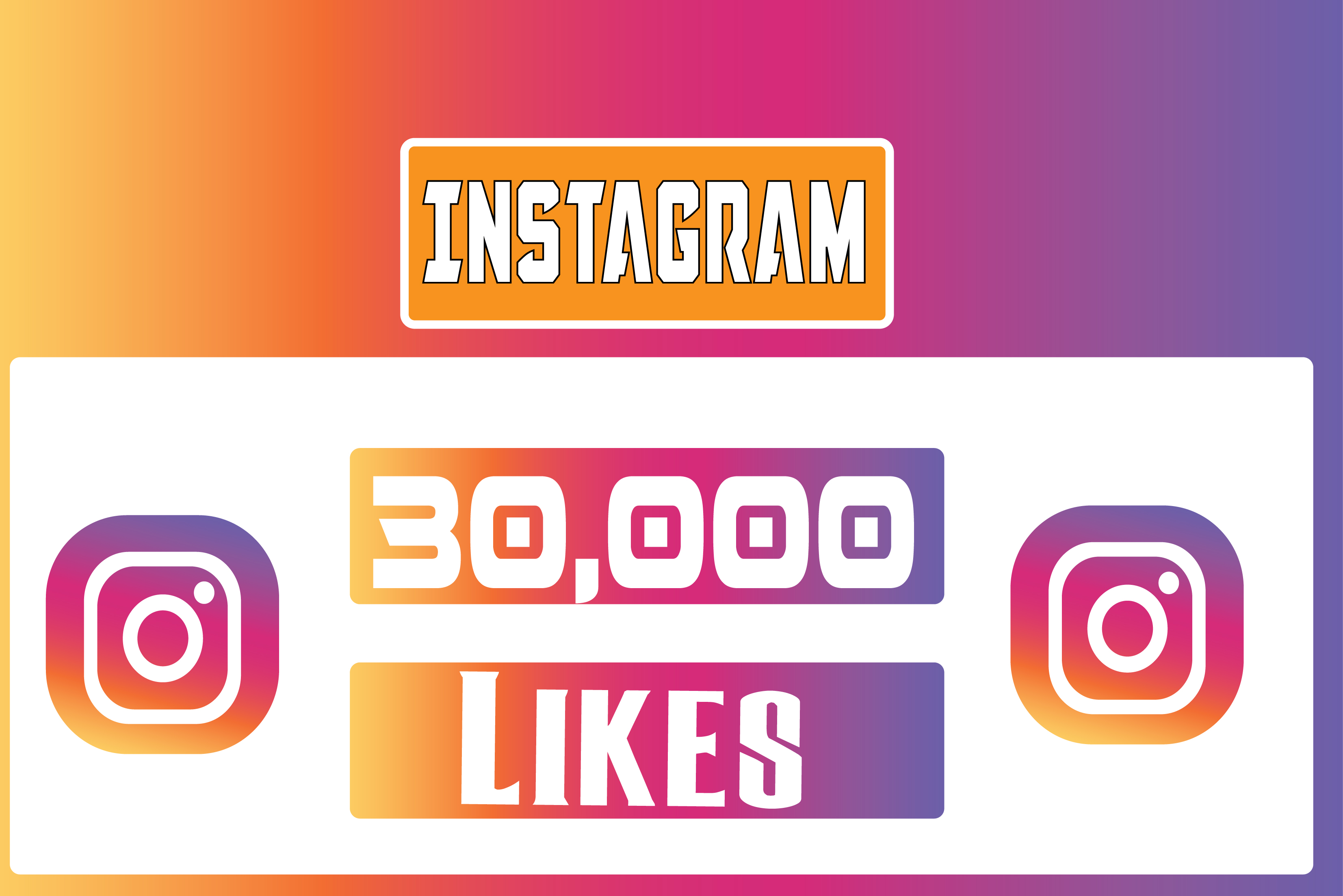 Instagram 30,000 Instant Fast Non Drop (LIKES)