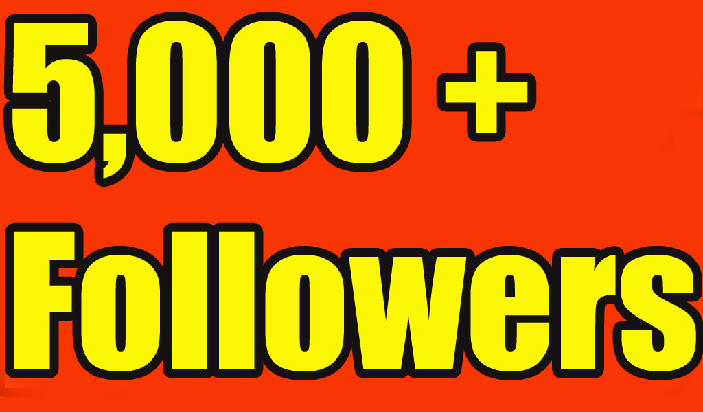 5,000+ High-Quality Twitter Followers