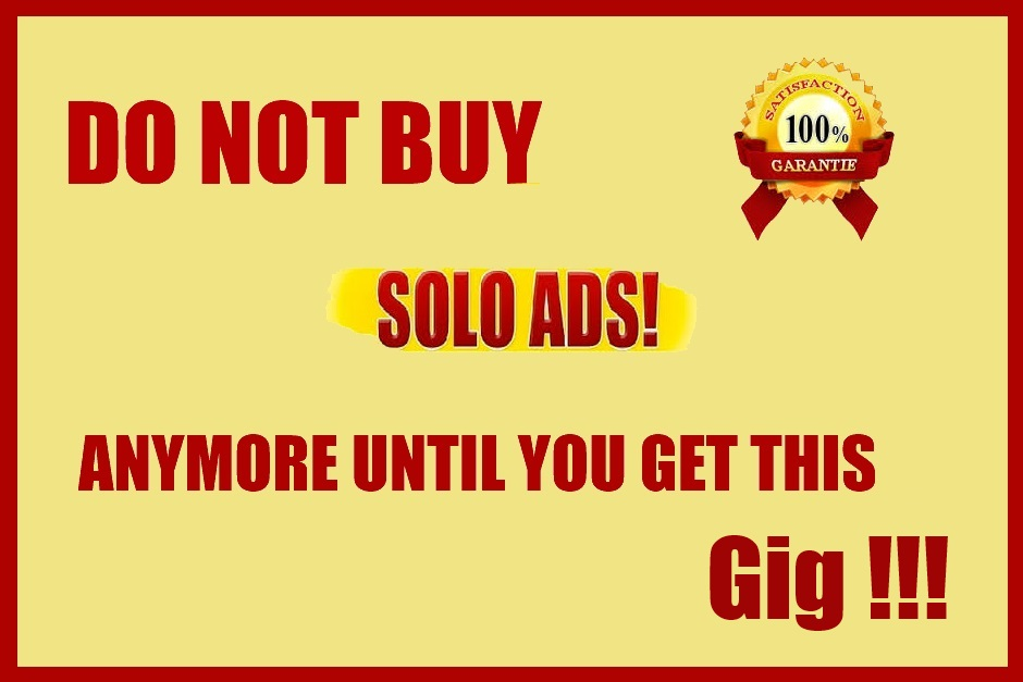 Tell you my SOLO ads vendor that get me 75percent conversion from a single blast