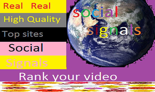 I will give you 1850 real high quality social signals top 5 sites for $5