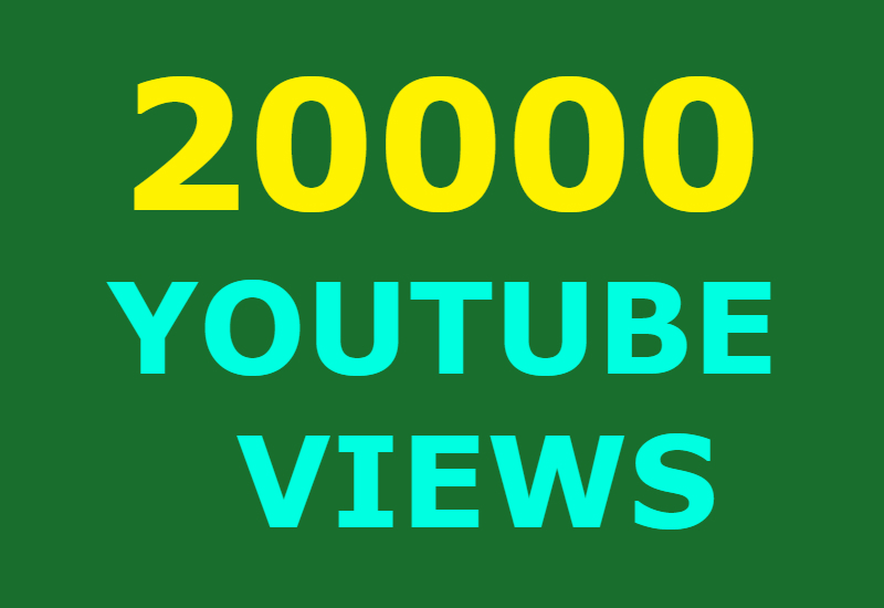 20000 Guaranteed Youtube views and 500 likes