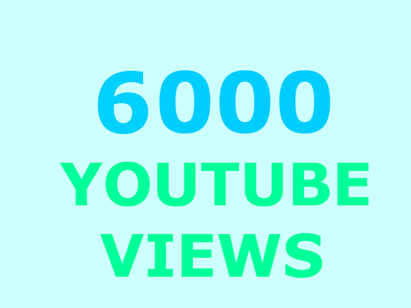 6000 Guaranteed Youtube views and 300 likes