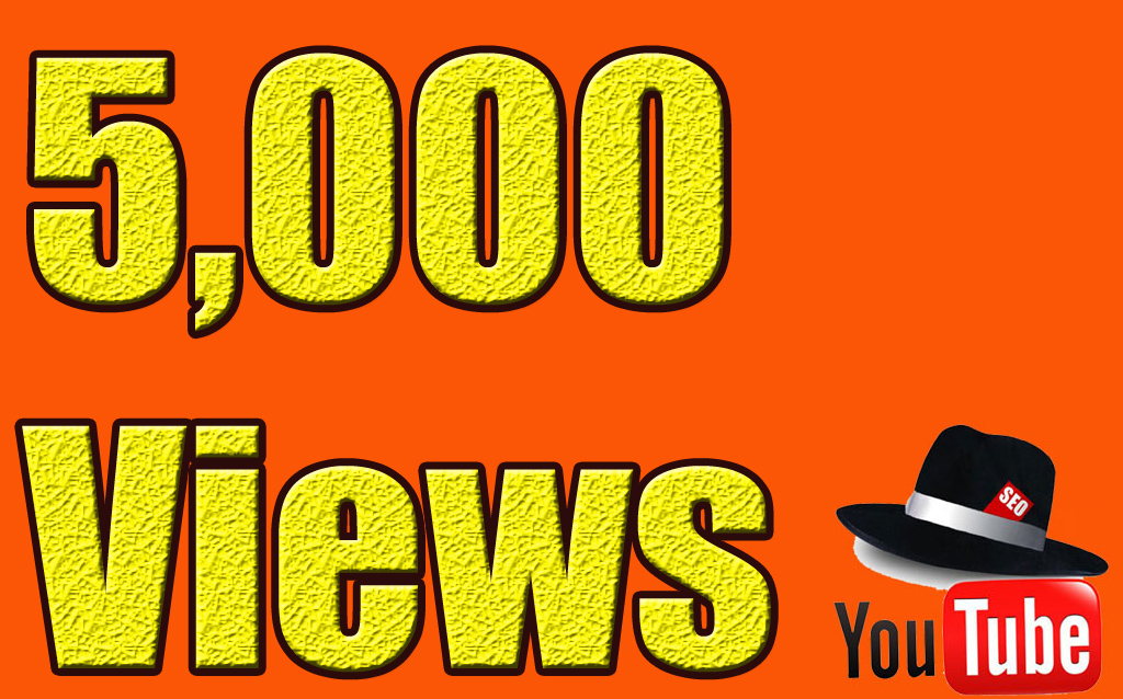 5000+ YouTube Views Lifetime guarantee in 24 Hrs! -Great Service – Fast Delivery – High Quality – 100% SAFE