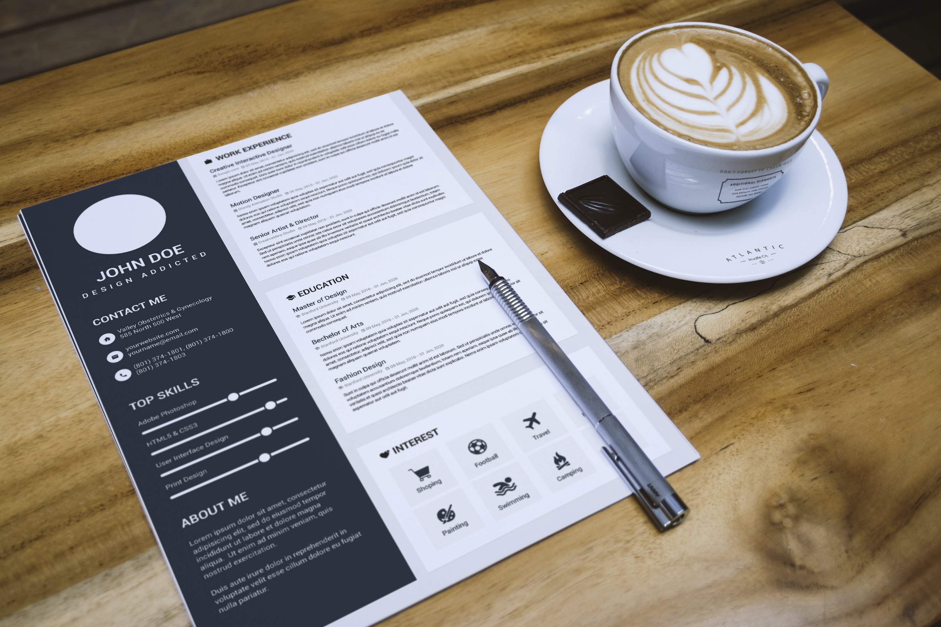 Provide 5 High Quality Resume Templates And Cover Letters