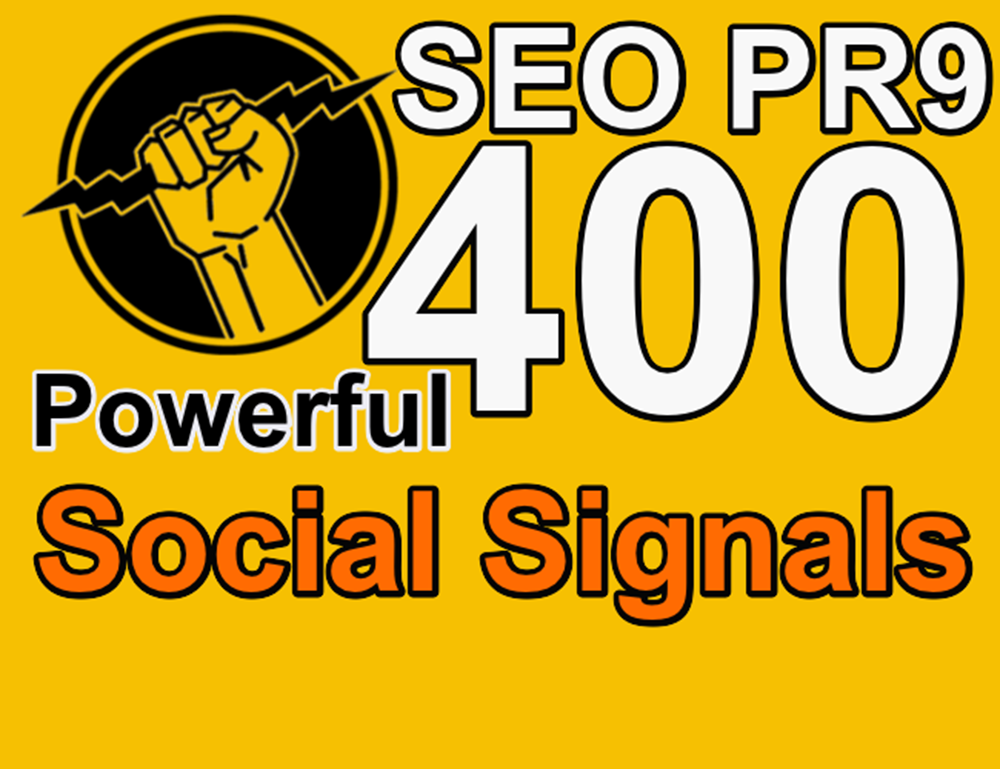 400+ Powerful Permanent HQ Social Share Video Or Website Promotion PR9 SEO Social Signals Buffer & Bitly Help To Ranking