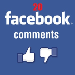 provide 20 Facebook Post Comments