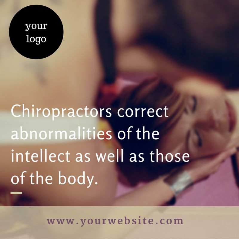 create 10 Chiropractic Quotes With Your Logo And Website