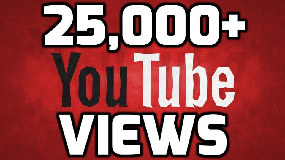 give you 25000 Youtube Views Very Cheap Price