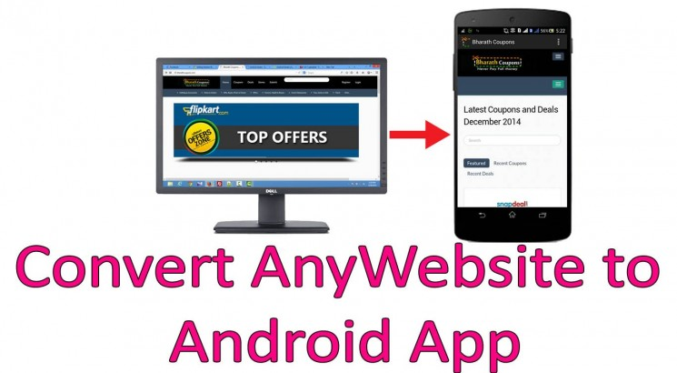 convert your website to android app