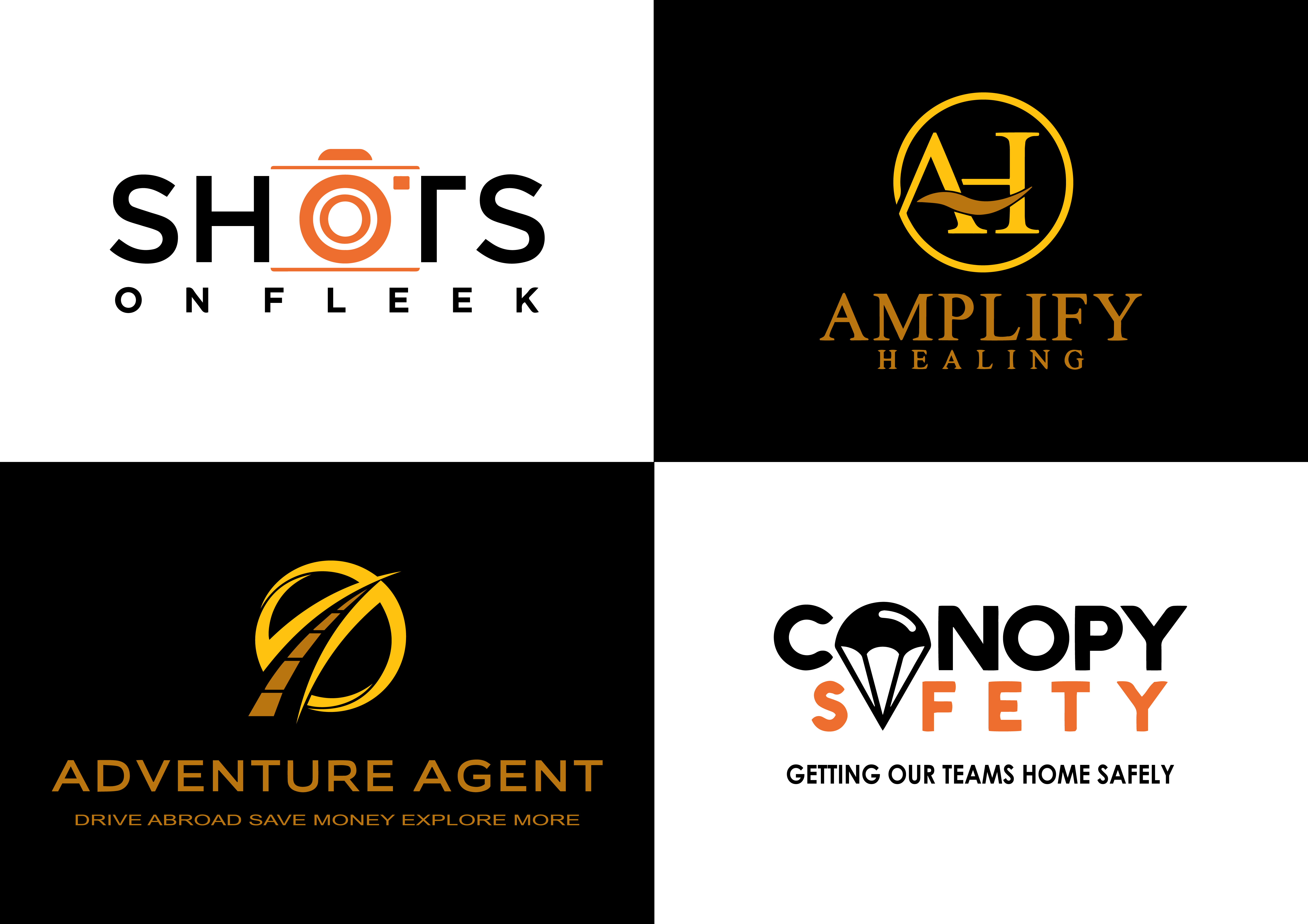 design a beautiful flat logo for your business