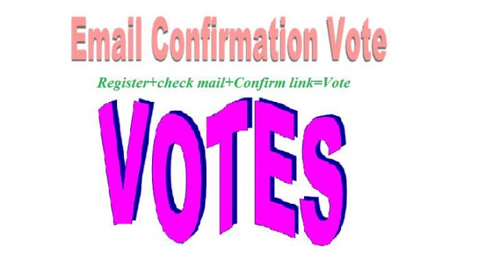 Add 100 registration with email confirmation votes