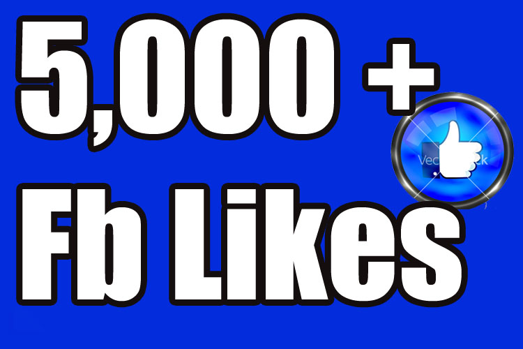 Gives you 5,000 Instantly started Guaranteed Facebook likes