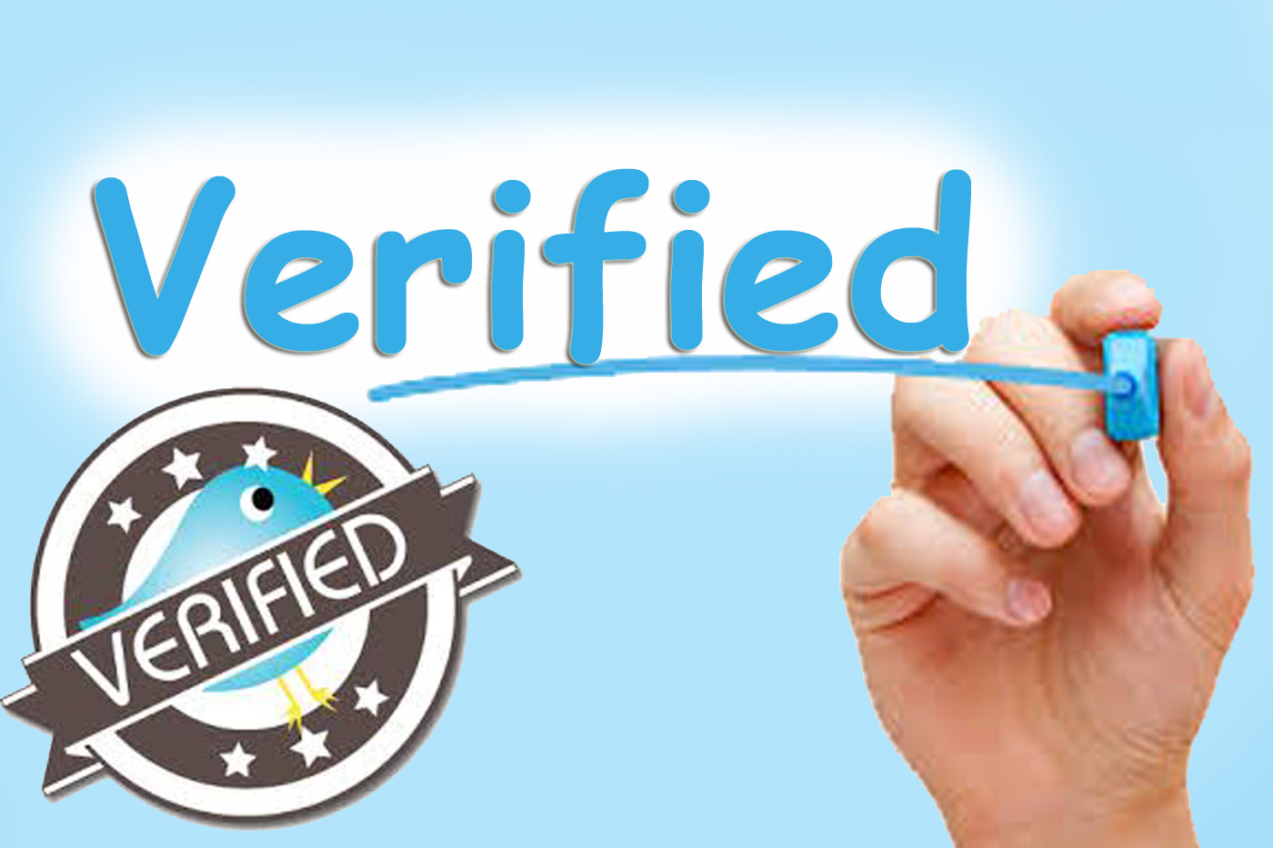 Forward your twitter account to verification deparment