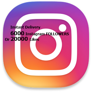 6000+ Stable Instagram Followers or 20,000 Likes within 5-6 Hr