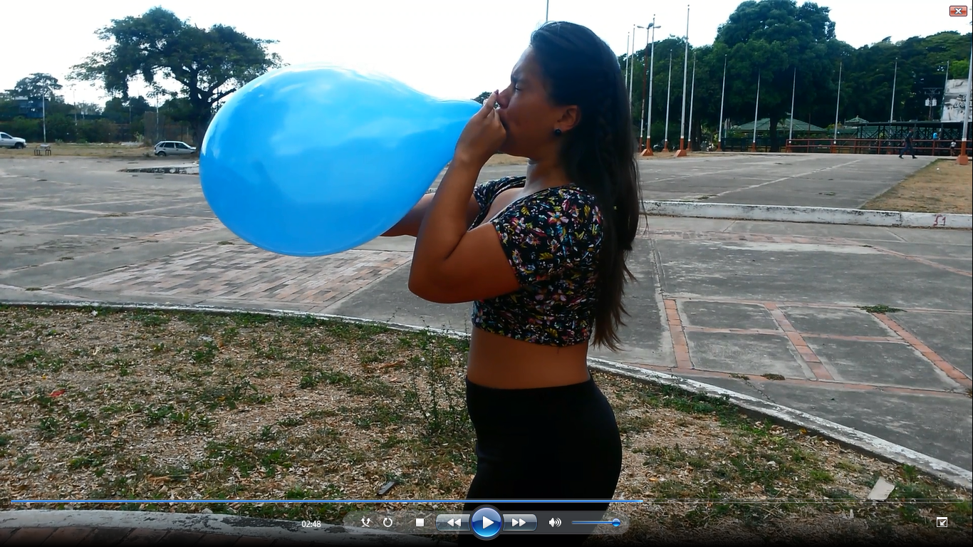 going to blow balloons for you