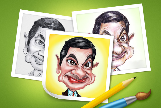 draw a stunning caricature from photo