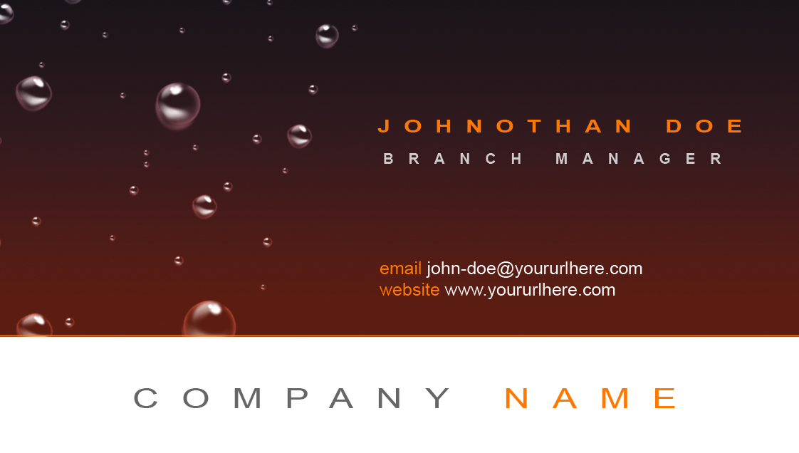 produce and design your business card template
