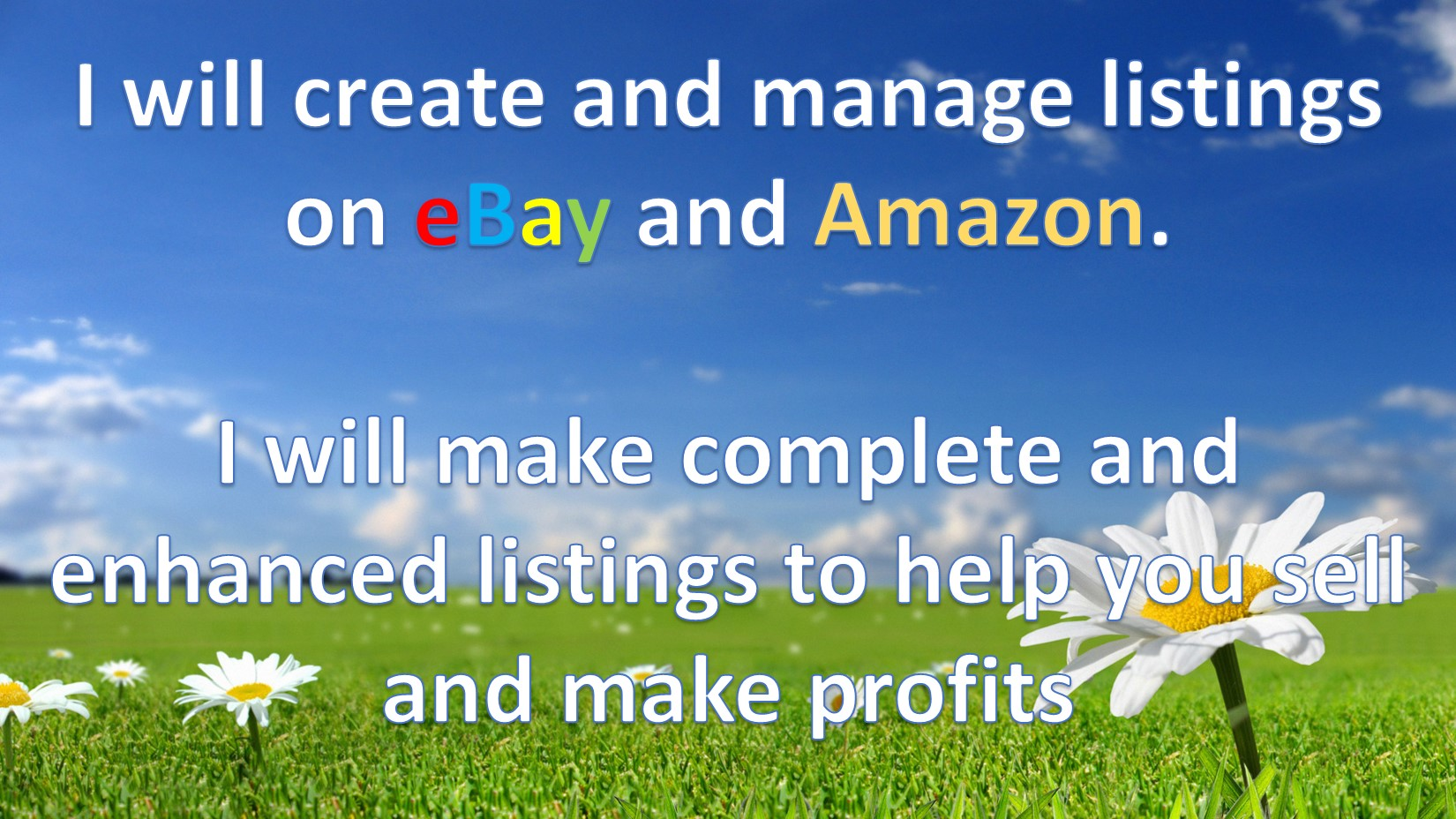 create and manage listings on eBay or Amazon