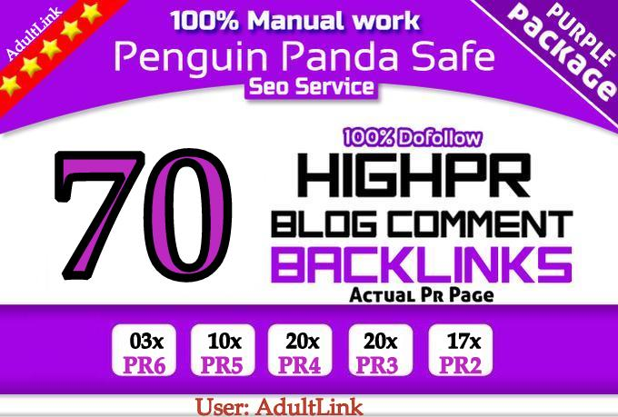 provide Manual HighPR Blog Comment 70 PR2 Dofollow on unique domains in 48 Hours