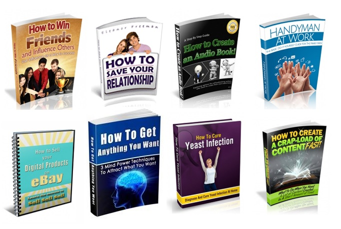 give you 50 How to  Ebooks