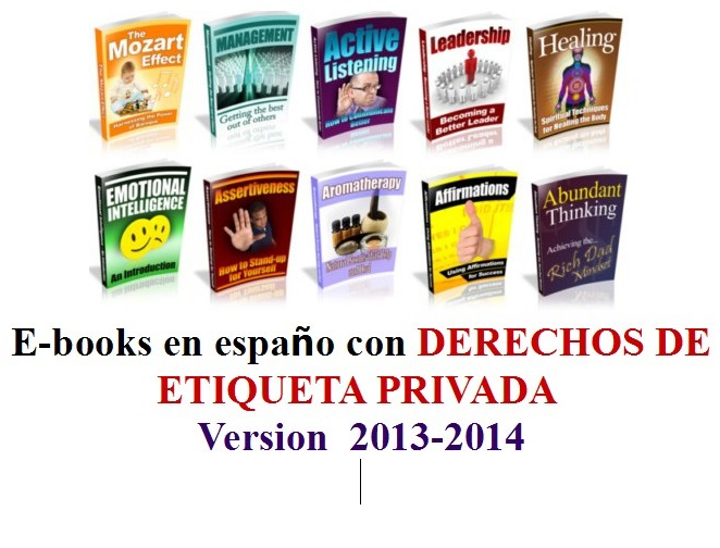 give you 100 new Ebooks in Spanish with resell rights