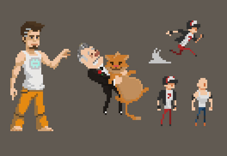 create pixel art character of your choice