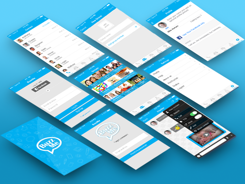 Design and develop a Chat app